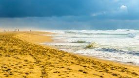 Beach on the Atlantic Ocean near Seignosse - France Royalty Free Stock Photo