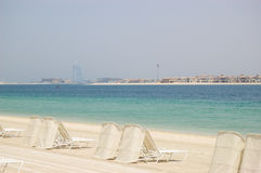 Beach of Atlantis the Palm hotel Stock Images