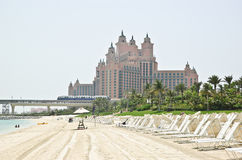 Beach of Atlantis the Palm hotel Royalty Free Stock Photo