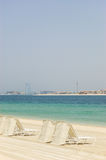 Beach of Atlantis the Palm hotel. Dubai, UAE Royalty Free Stock Photography