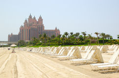 Beach of Atlantis the Palm hotel Stock Image