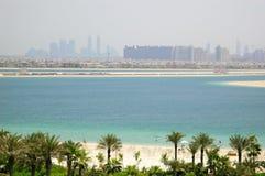 Beach of Atlantis the Palm hotel Stock Image