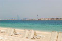 Beach of Atlantis the Palm hotel Royalty Free Stock Image
