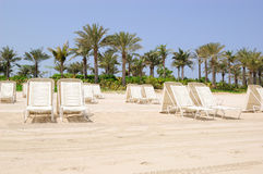 Beach of Atlantis the Palm hotel, Dubai, UAE Stock Photo