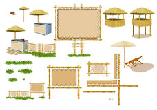 Beach atmosphere (furniture) Royalty Free Stock Images