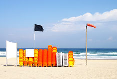 Beach attributes royalty free stock image