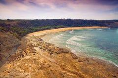 Beach in Australia. Scenic aerial view of Eagles Nest in Cape Paterson, Victoria, Australia stock images