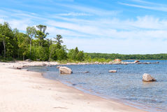 Beach at Awenda Provincial Park in Ontario Stock Images