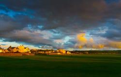 Beach of Ayr at sunset Royalty Free Stock Image