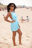 Beach babe. Beautiful brazilian girl standing on the beach Royalty Free Stock Photo