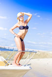Beach Babe On Cruise Boat Stock Image