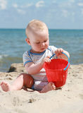 Beach baby Stock Image