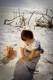 Beach Baby. Close up of little boy on the beach Stock Photography