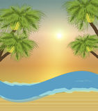 Beach Background 1. Illustration of beach scene background Royalty Free Stock Image