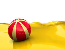 Beach background. 3d illustration of beach with ball over white background Royalty Free Stock Photo