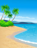 Beach background Stock Photography