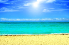 Beach background Stock Photos