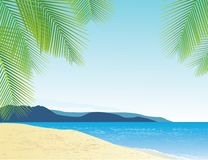 Beach background Royalty Free Stock Images