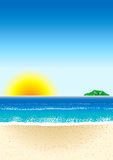 Beach Background 3 Royalty Free Stock Photos
