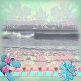 Beach Background. A floral, batik style background, beachy and rich in texture for scrapbooking, etc Stock Images