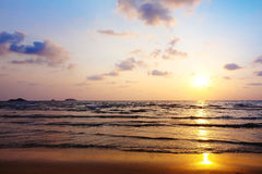Beach background. Abstract beach background at sunset Stock Photos