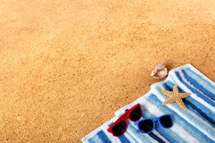 Beach background summer border copy space Royalty Free Stock Image