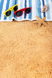 Beach background border copy space vertical Royalty Free Stock Photos