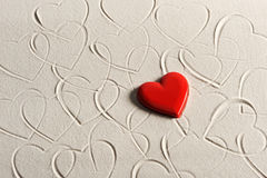 Beach background with hearts. Drawing royalty free stock photos