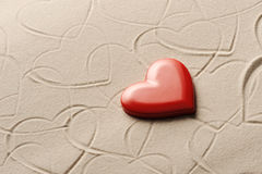 Beach background with hearts. Drawing royalty free stock image