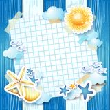 Beach background with paper Stock Photo
