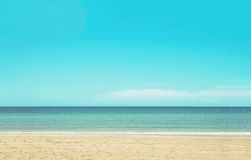 Beach background with retro color Royalty Free Stock Images