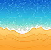 Beach background. Beach sand and sea Background. The file is saved in the version AI10 EPS. This image contains transparency stock illustration