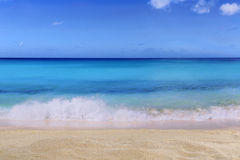 Beach background scene in summer on vacation with waves Stock Photos