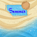 Beach background with Summer text Royalty Free Stock Photo
