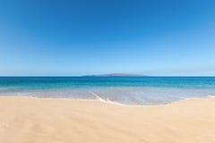 Beach background. Sunny island beach background maui hawaii Royalty Free Stock Image