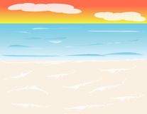 Beach Background at Sunset Royalty Free Stock Photos