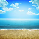 Beach Background Stock Image