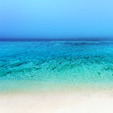 Beach background / Untouched tropical beach square  image Stock Photography