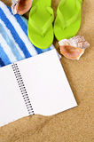 Summer travel beach background copy space Royalty Free Stock Photos