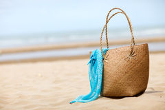 Beach bag Stock Images