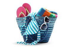 Free Beach Bag Royalty Free Stock Photography - 19947017