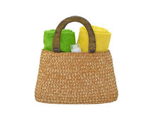 Beach Bag Royalty Free Stock Photography
