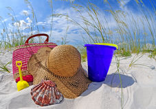 Beach bag and accessories Royalty Free Stock Image
