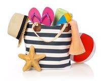 Beach bag Royalty Free Stock Photos
