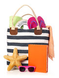 Beach bag Royalty Free Stock Image