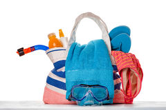 Beach bag consept Royalty Free Stock Photography