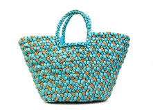 Beach bag front Royalty Free Stock Photos
