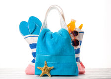 Beach bag isolated Stock Photos