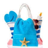 Beach bag isolated Stock Image
