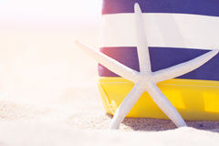 Beach bag and stafish Royalty Free Stock Photos